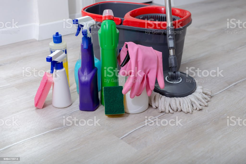 Cleaning Products For Home Clean Stock Photo & More Pictures of ...