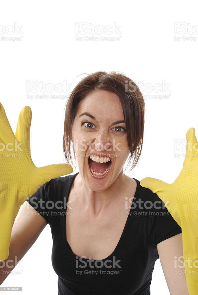 Cleaning rush royalty-free stock photo