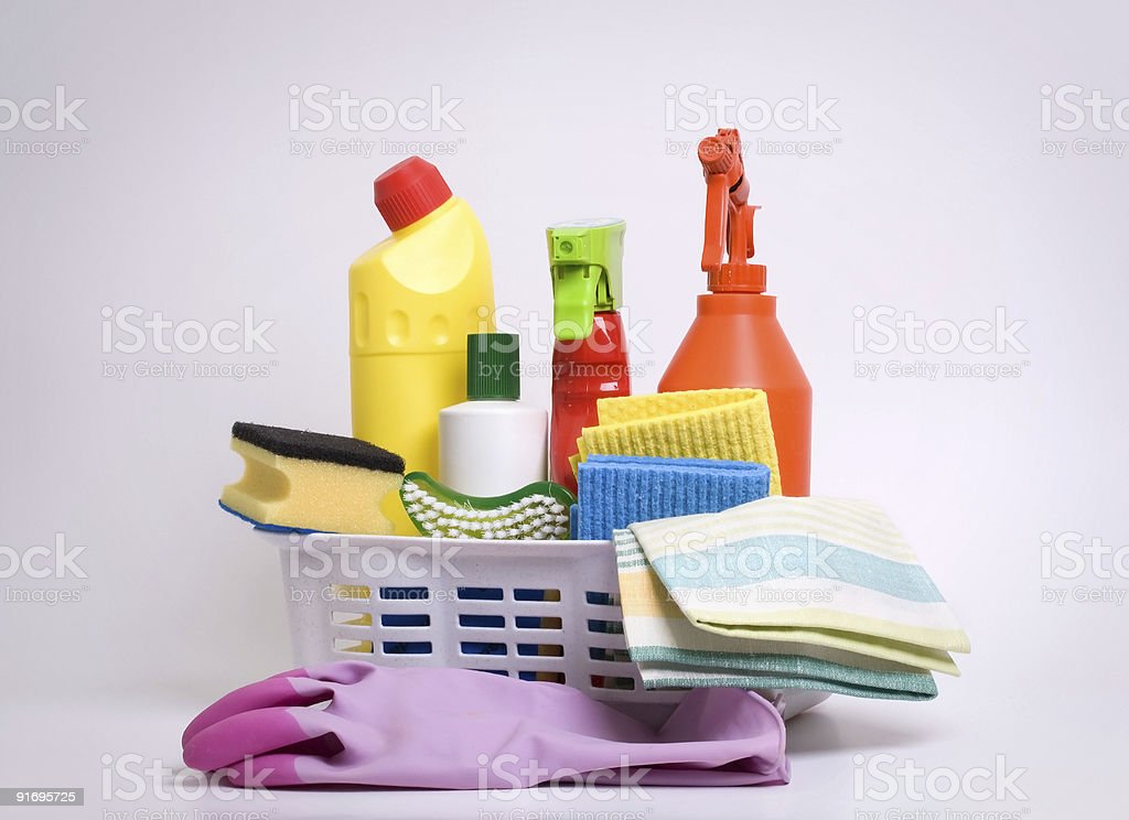 Cleaning set royalty-free stock photo