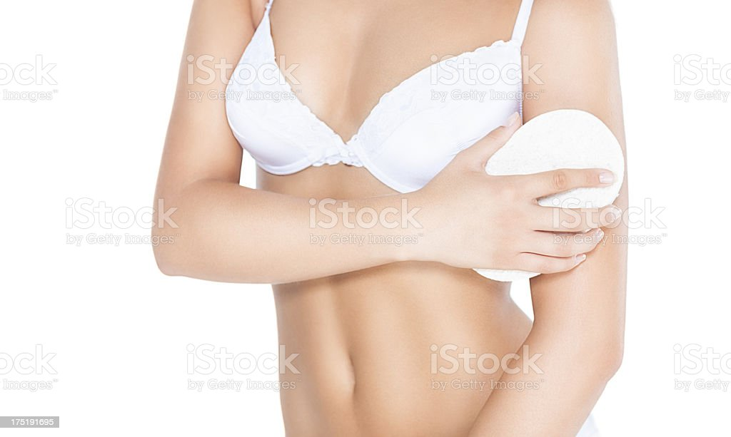 Cleaning Skin royalty-free stock photo