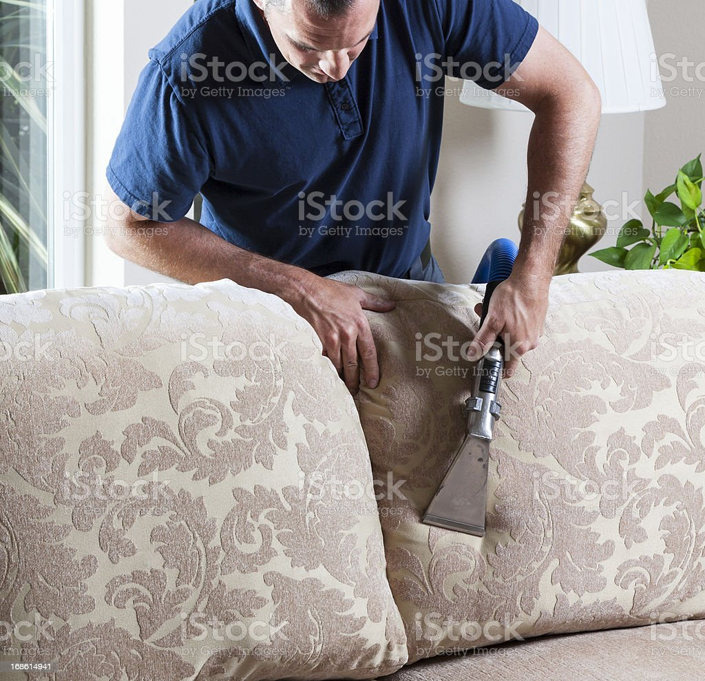 Cleaning Sofa stock photo