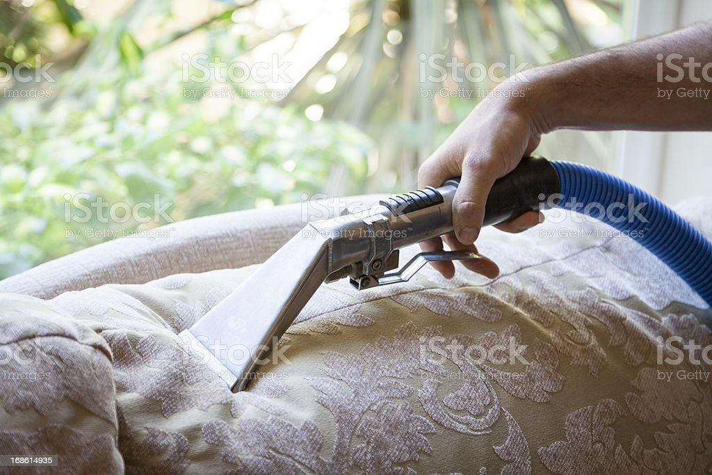 Cleaning Sofa Pillow stock photo