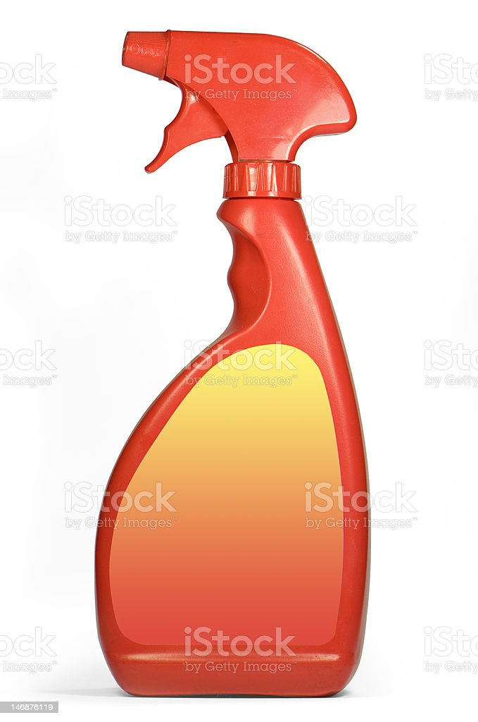 Cleaning spray pack royalty-free stock photo