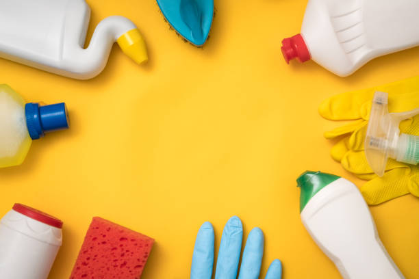 cleaning supplies household chemicals online store - bleach stock pictures, royalty-free photos & images