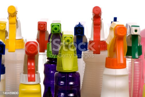 Cleaning Supplies Stock Photo & More Pictures of Alcohol