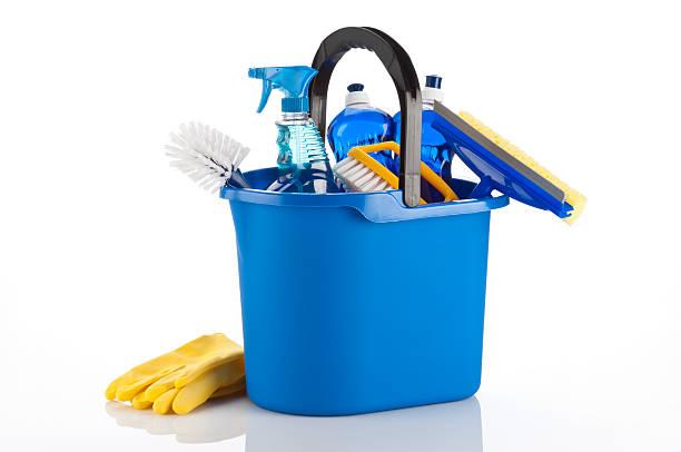 cleaning supplies - emmer stockfoto's en -beelden