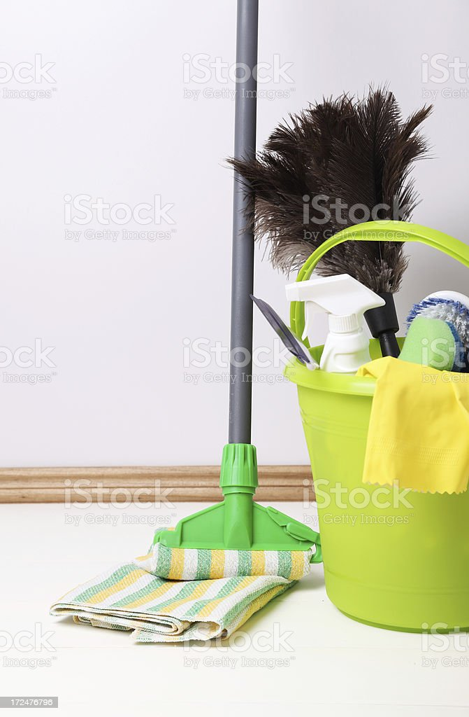 Cleaning supplies royalty-free stock photo