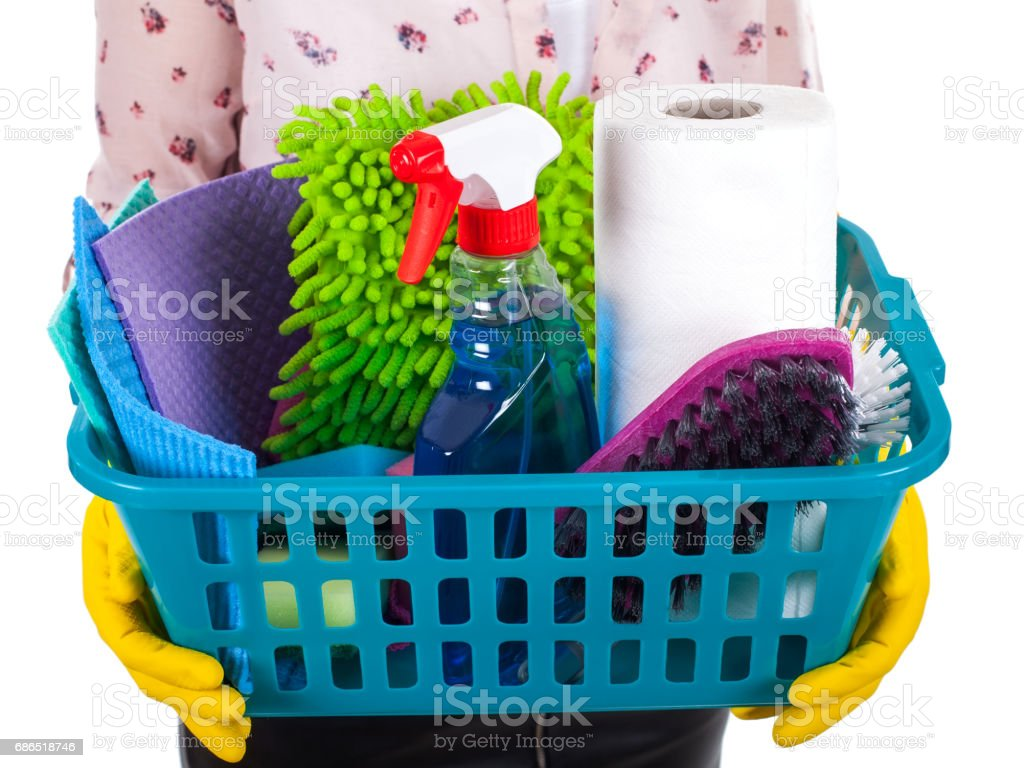 Cleaning supplies foto stock royalty-free