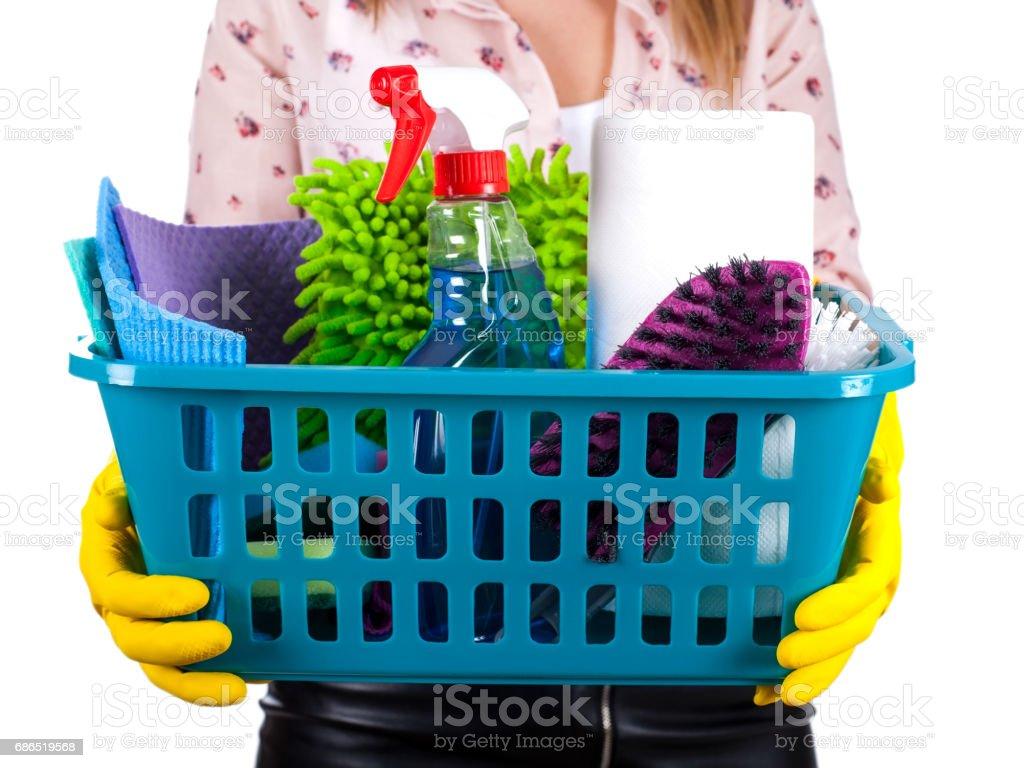 Productos de limpieza foto de stock libre de derechos