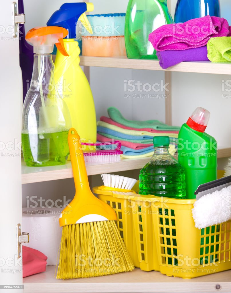 Cleaning Supplies Storage Stock Photo U0026 More Pictures Of Antiseptic | IStock
