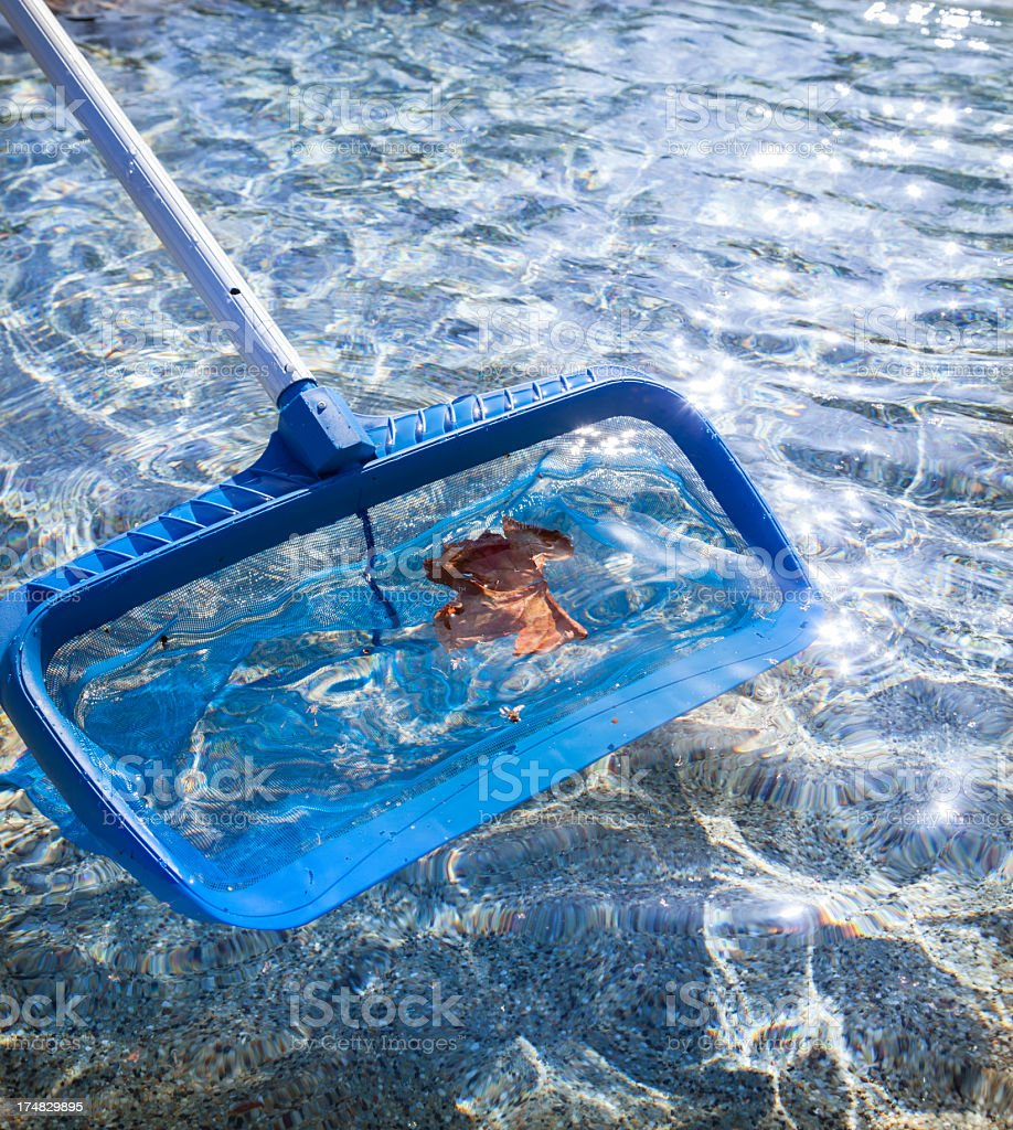 Cleaning Swimming Pool stock photo