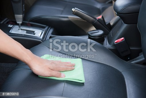 istock Cleaning the car interior 513820010