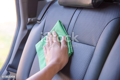 istock Cleaning the car interior 513820404