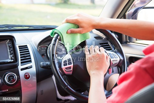 istock Cleaning the car interior 534326868