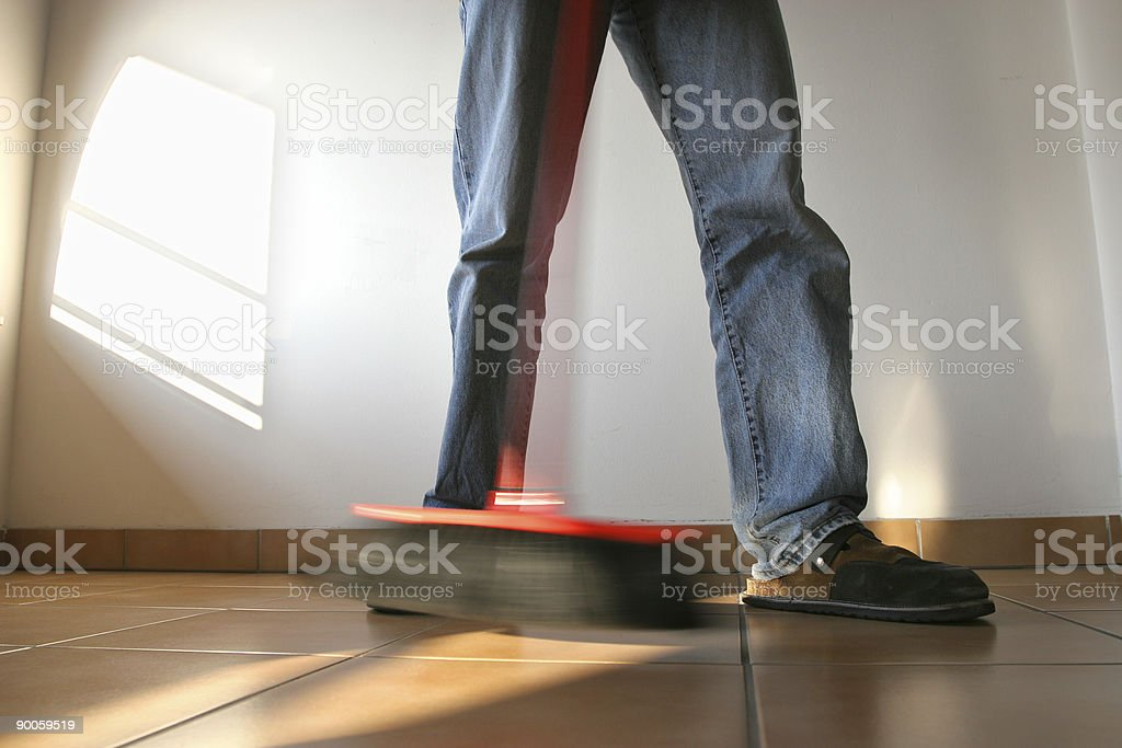 Cleaning the house royalty-free stock photo