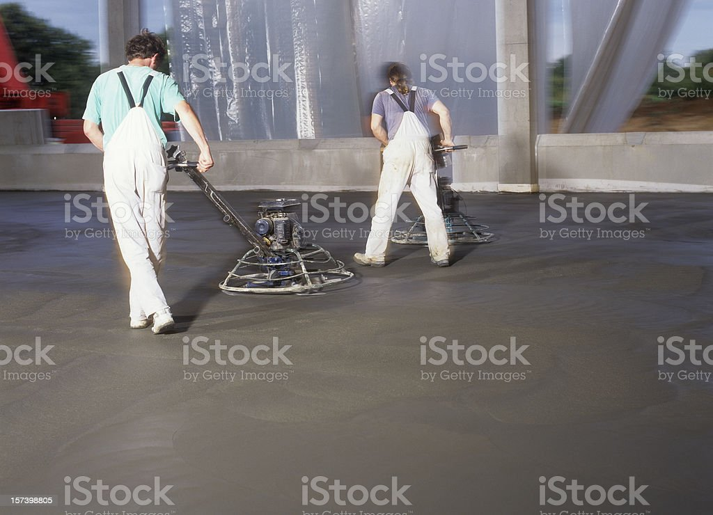 Cleaning the new floor stock photo