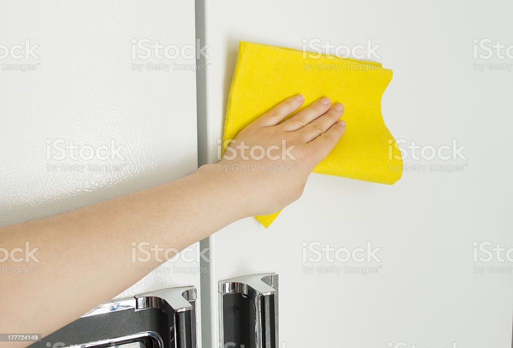 cleaning the refrigerator royalty-free stock photo