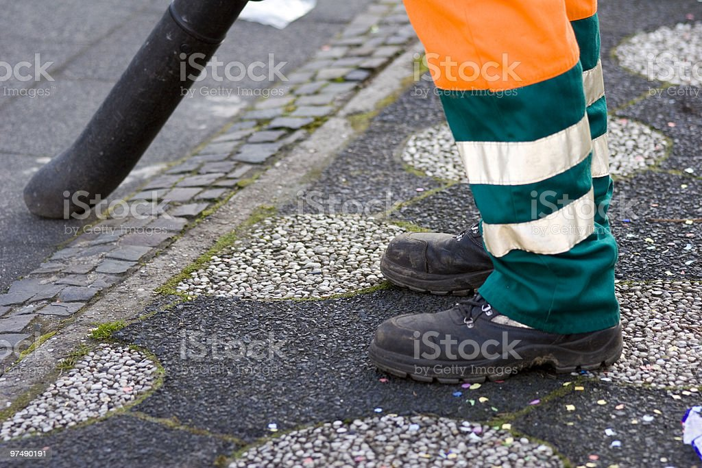 Cleaning the street royalty-free stock photo