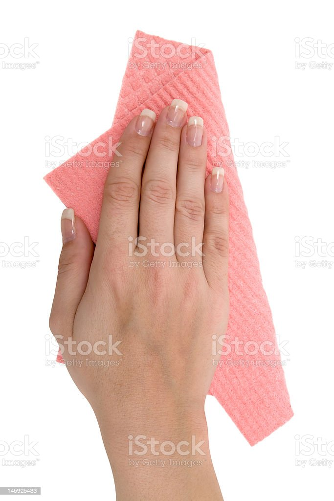 Cleaning the Table royalty-free stock photo