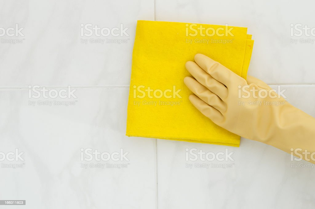 cleaning tile royalty-free stock photo