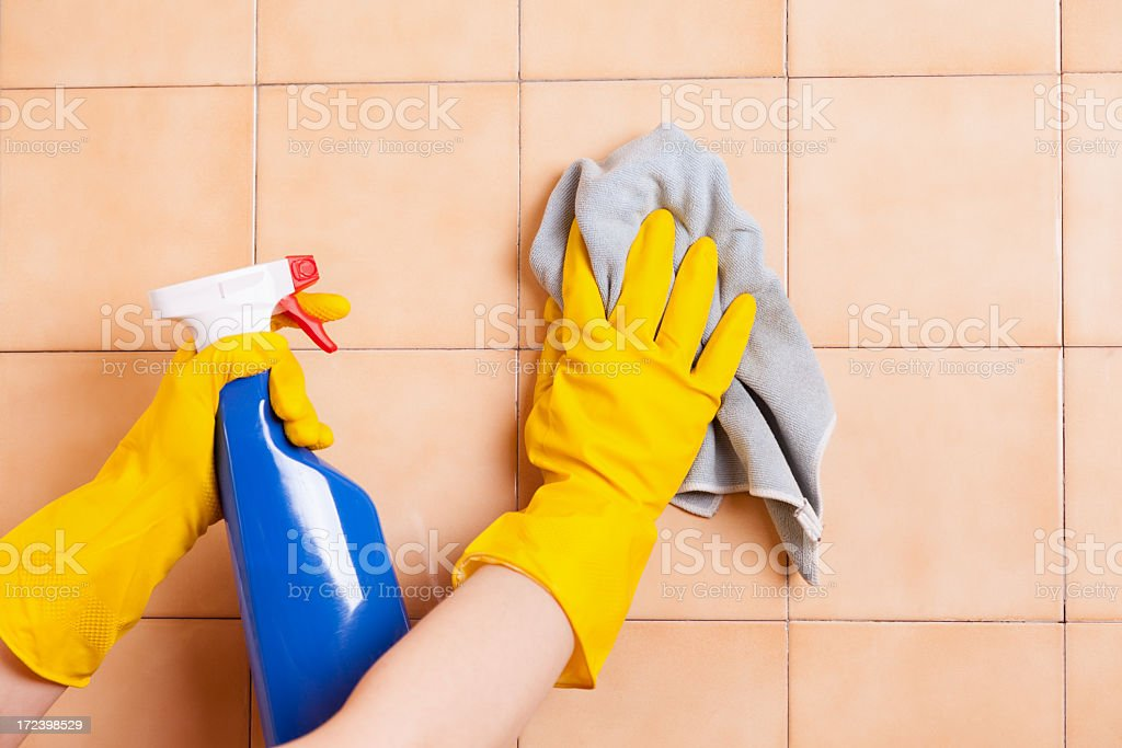 Cleaning tile stock photo
