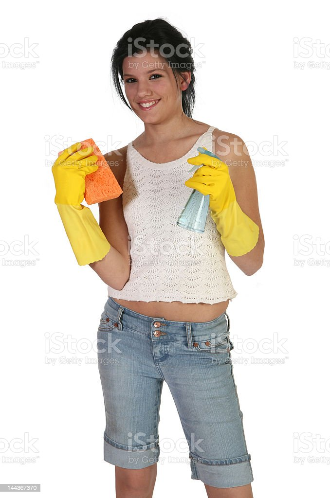 Cleaning Time royalty-free stock photo