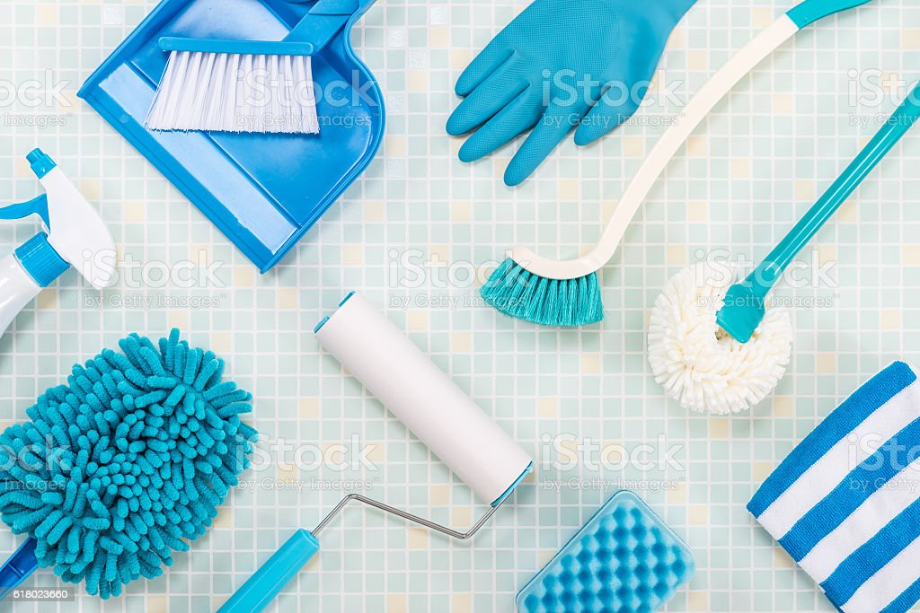 cleaning tool tile background stock photo