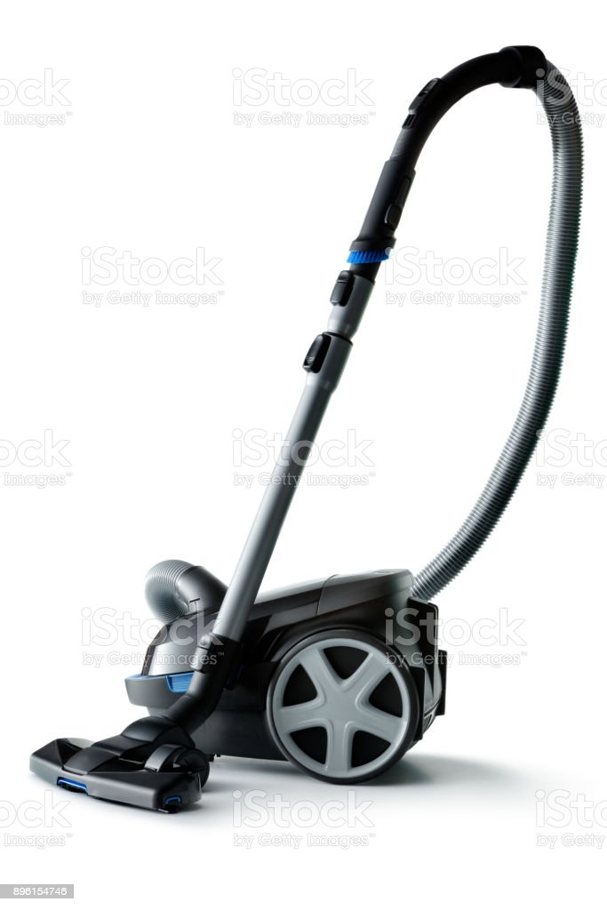 Cleaning: Vacuum Cleaner Isolated on White Background stock photo
