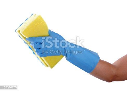 istock Cleaning whit sponge 137328775