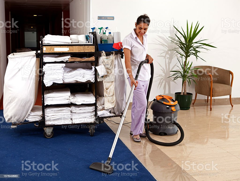 Cleaning woman royalty-free stock photo