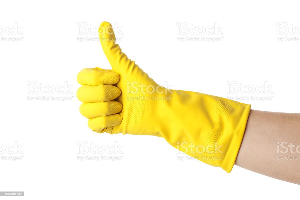Cleaning's done stock photo