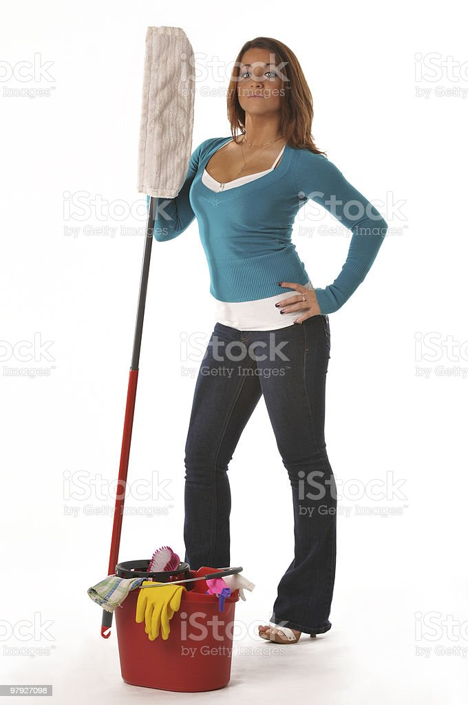 Cleaning's perfect ! royalty-free stock photo