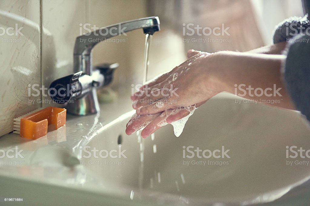 Cleanliness is key stock photo