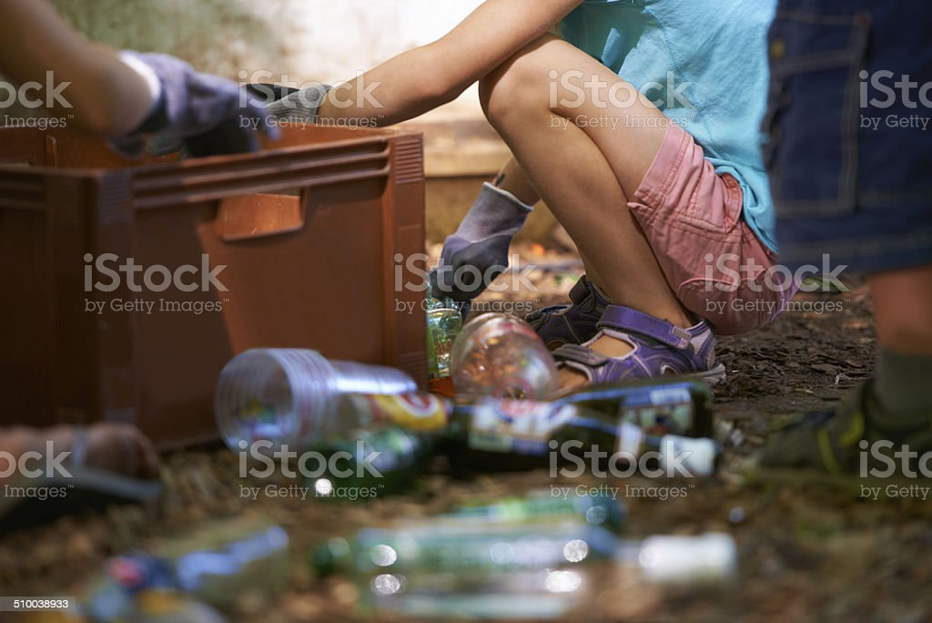 Clean-up is never fun stock photo