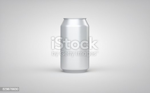 istock Clear aluminum can on white studio 529676630