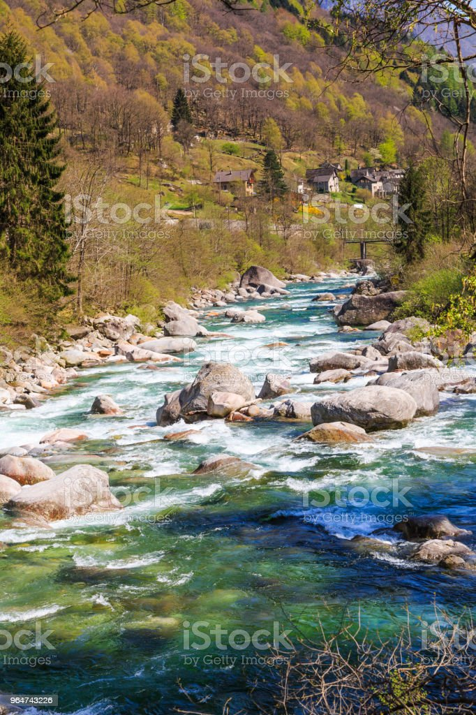 Clear and turquoist water stream royalty-free stock photo