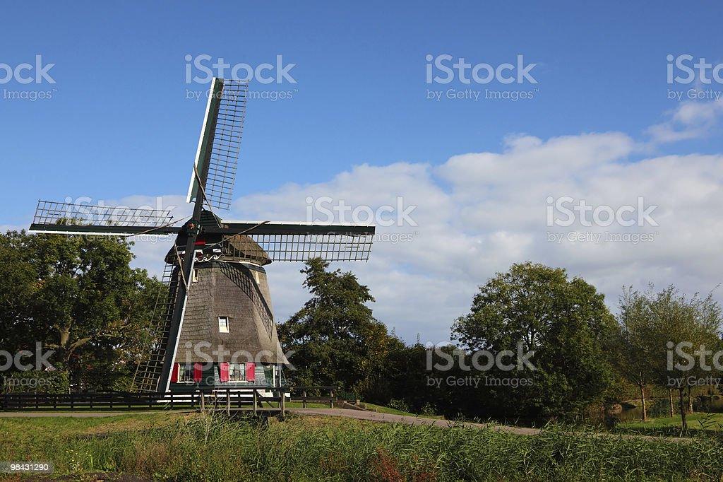 Cancella autunno giorno in Olanda foto stock royalty-free