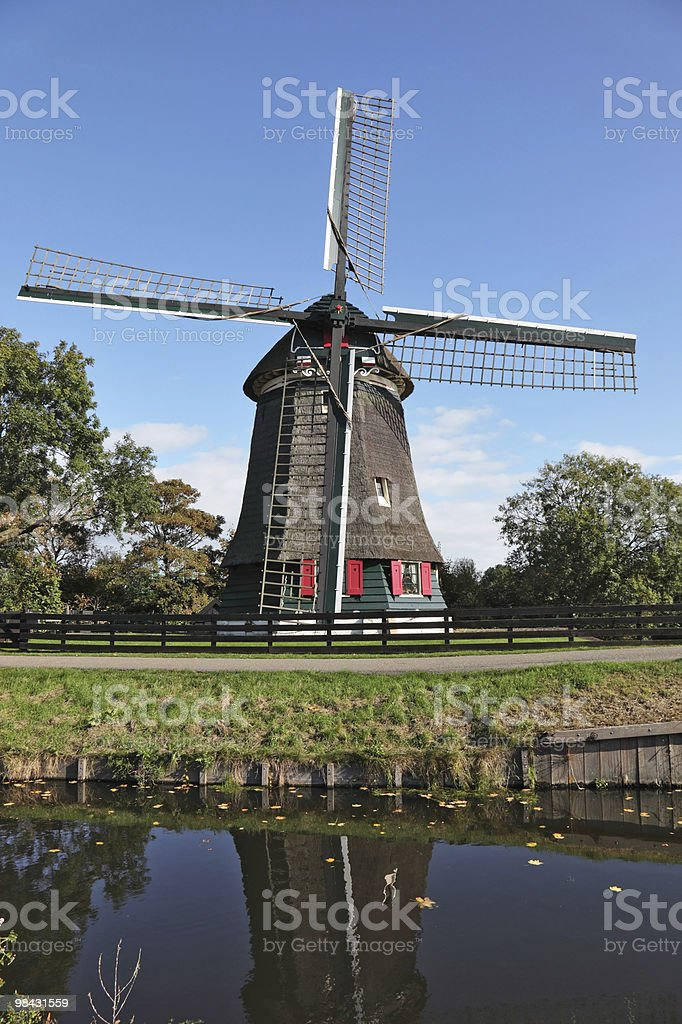 Clear autumn day in the Netherlands royalty-free stock photo