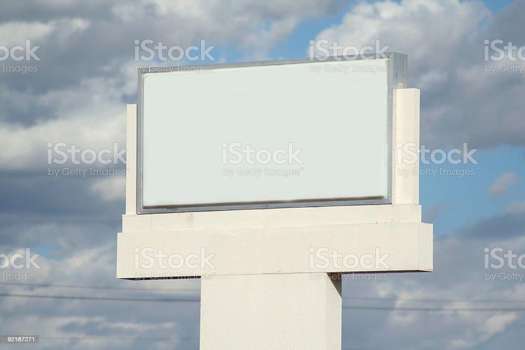 Clear Billboard royalty-free stock photo
