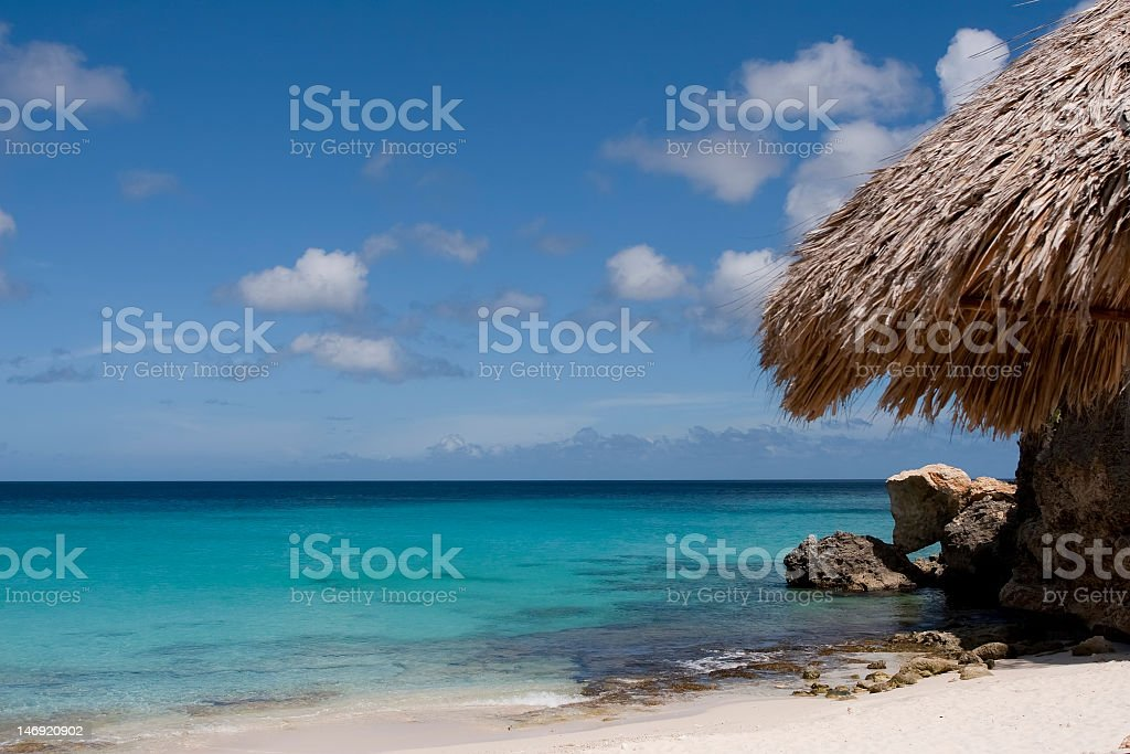 Tropischen Strandhütte – Foto