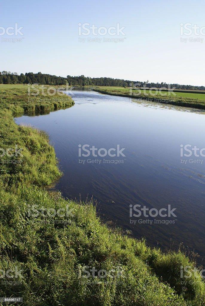 Clear Blue River royaltyfri bildbanksbilder