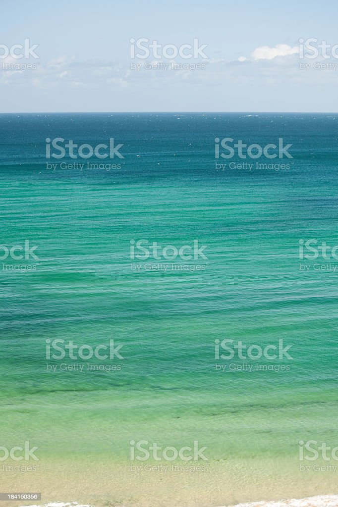 Clear blue sea at Carbis Bay, St Ives, Cornwall stock photo