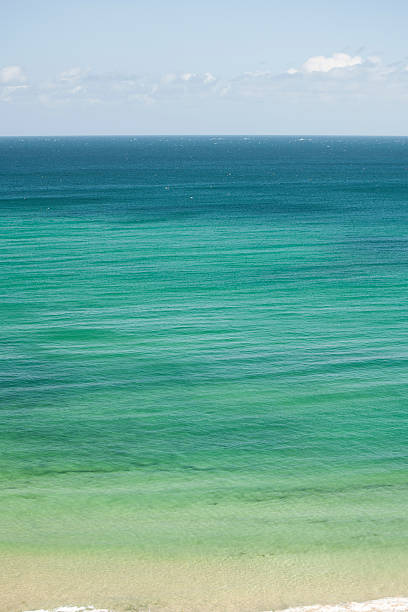 clear blue sea at carbis bay, st ives, cornwall - cornwall stock pictures, royalty-free photos & images