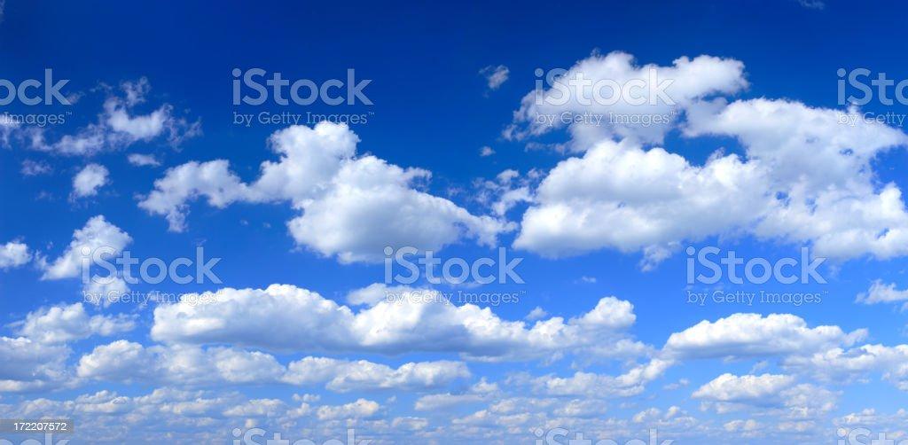 XXXL Clear Blue Sky panorama  Accessibility Stock Photo