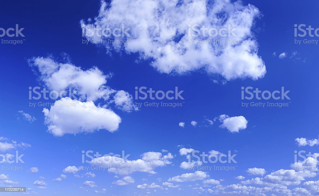 XXL Clear Blue Sky panorama royalty-free stock photo