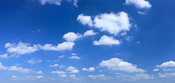XXXL Clear Blue Sky panorama stock photo