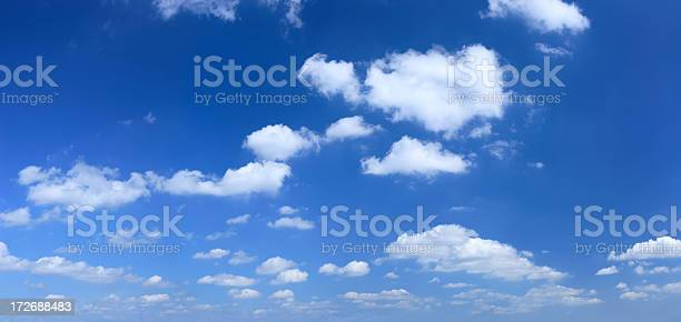 Xxxl Clear Blue Sky Panorama Stock Photo - Download Image Now