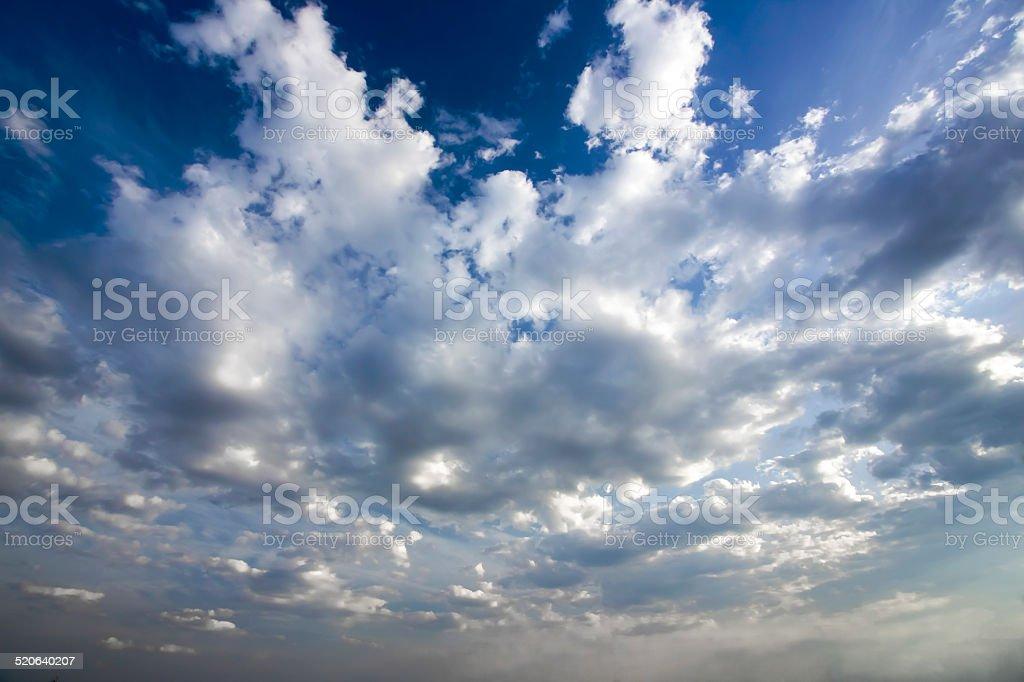 Clear Blue Sky panorama stock photo