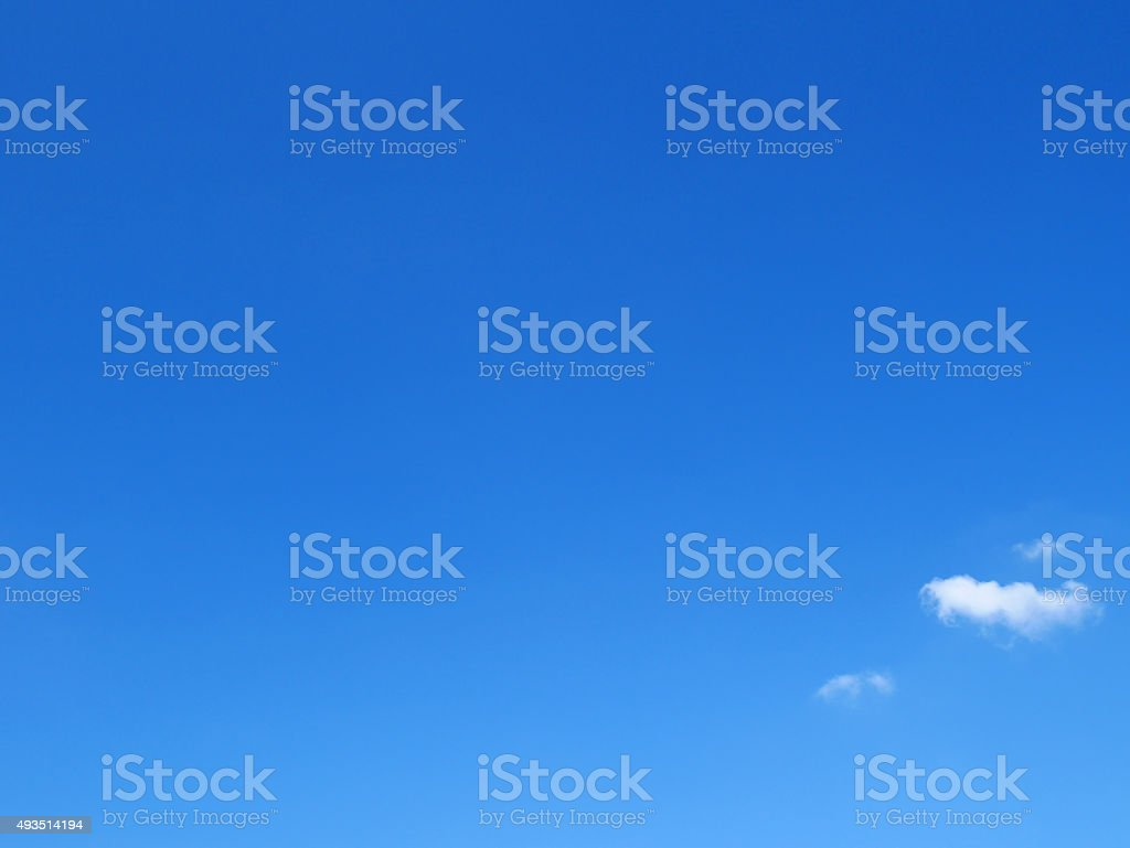 Clear blue sky stock photo