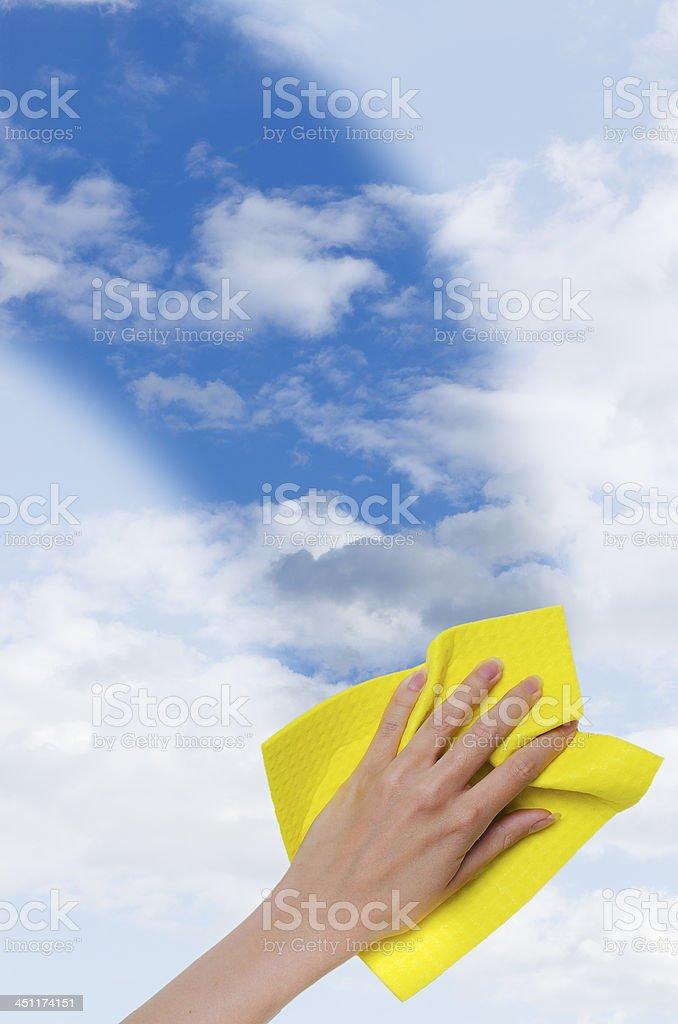 Klaren blauen Himmel vertikale – Foto